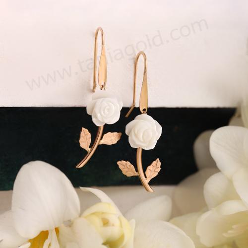 گوشواره گل رز